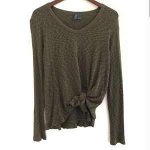 4/$25 Life of Center Sweater Tie front Top